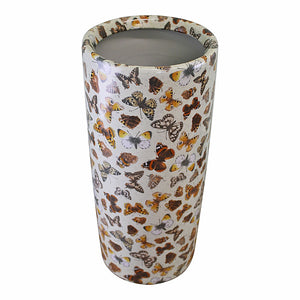 Umbrella stand ceramic butterfly design