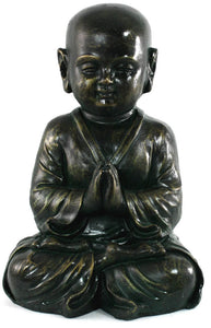Get Stone effect child Buddha statue