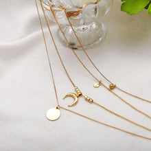Load image into Gallery viewer, gold-plated-crescent-pendant-necklace