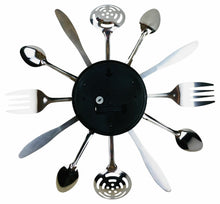 Load image into Gallery viewer, Kitchen Utensil & Cutlery Wall Clock
