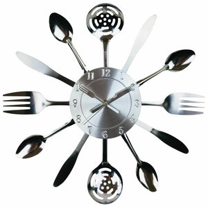 Kitchen Utensil & Cutlery Wall Clock