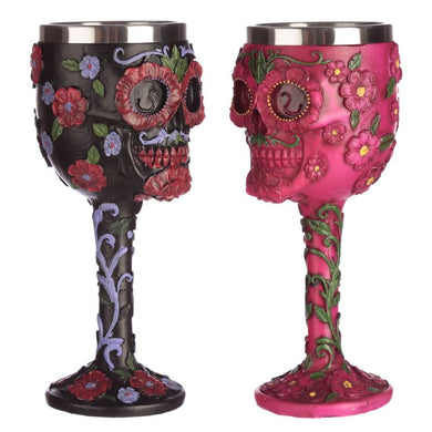 Day of the Dead decorative skull goblet