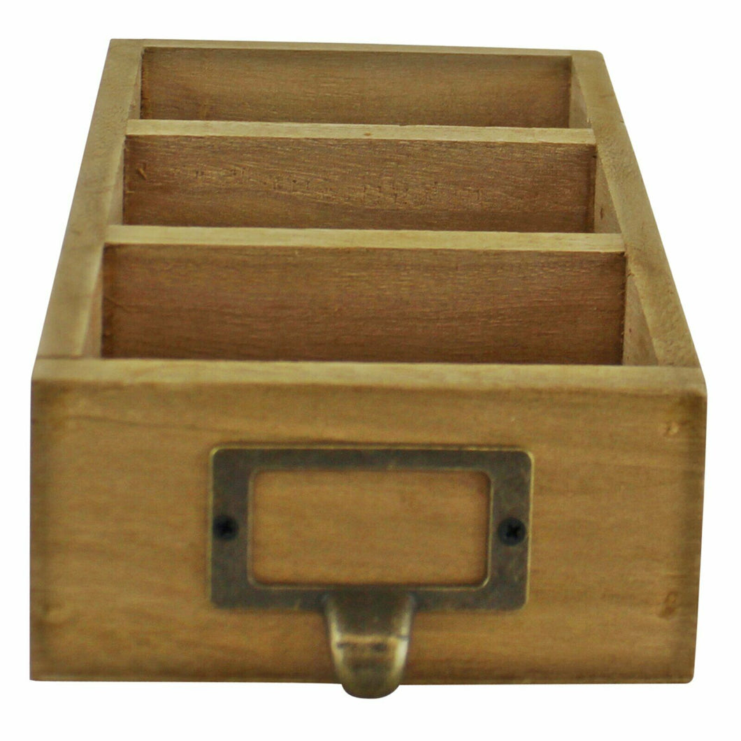 Wooden desk tidy