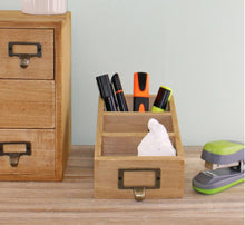 Load image into Gallery viewer, Wooden desk tidy