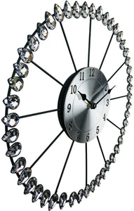 Diamond effect metal wall clock