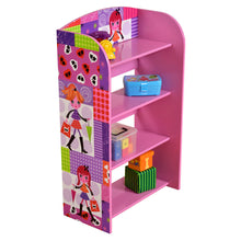Load image into Gallery viewer, Children's Canvas BookcasesBuy Fashion girl 4 tier bookshelf