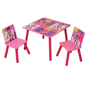 Square table and 2 chairs set for Fashion girl