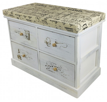 Load image into Gallery viewer, French Themed Wood Cabinet with 4 Drawers 70cm