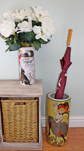 Umbrella stand, le frou frou 20c design with free vase