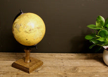 Load image into Gallery viewer, Decorative globe on wooden stand 8 inch