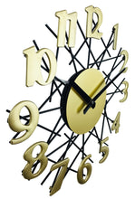 Load image into Gallery viewer, Golden metal geometry design wall clock