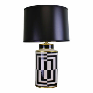 Modern ceramic lamp, geometric design 66cm