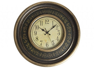 Large round gold leaf wall clock