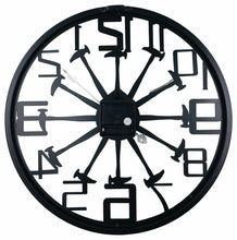 Load image into Gallery viewer, Black metal Saw/ hammer cut out wall clock