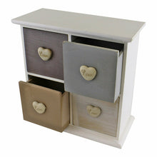Load image into Gallery viewer, White and neutral coloured love heart trinket drawers