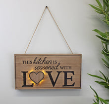 Load image into Gallery viewer, 3D LED Kitchen wall hanging plaque