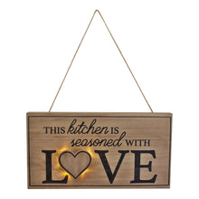 Load image into Gallery viewer, Price of 3D LED Kitchen wall hanging plaque