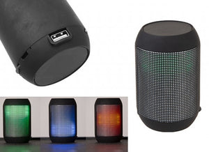 Boom led wireless speaker with FM radio