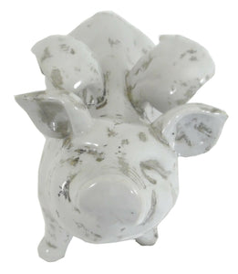 32cm Large Ceramic Flying Pig Ornament