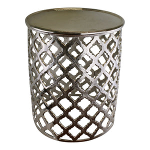 Buy Decorative Silver Metal Side Table Newcastle Upon Tyne