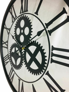 Mirrored mechanism clock 56cm