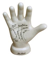Load image into Gallery viewer, 24cm Ceramic palmistry hand
