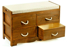 Load image into Gallery viewer, Revesby 4 Drawer Storage Bench