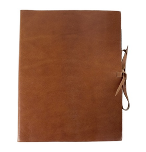 Rustico handmade leather-bound large photo album