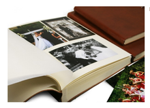 Load image into Gallery viewer, Rustico handmade heather bound large photo album saddle brown