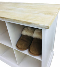 Load image into Gallery viewer, Wooden bench with 8 storage compartments