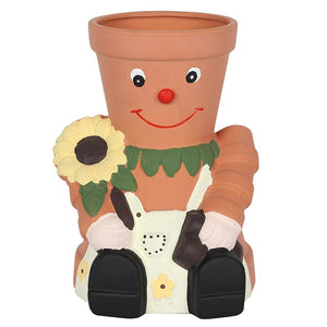 Extra large terracotta pot man planter 25cm