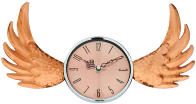 Copper winged wall clock In UK