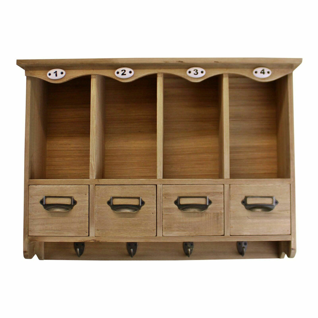 Wooden wall hanging storage unit, perfect solution for family