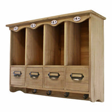 Load image into Gallery viewer, Wooden wall hanging storage unit, perfect solution for family