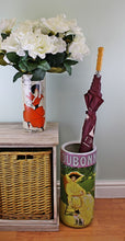 Load image into Gallery viewer, Umbrella stand, dubonnet design with free vase