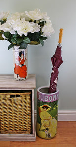 Umbrella stand, dubonnet design with free vase