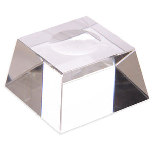 Crystal ball with glass stand and a gift box 5 cm