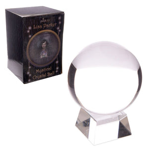 Crystal ball with glass stand and a gift box 5 or 10 cm