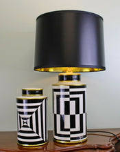Load image into Gallery viewer, Modern ceramic lamp, geometric design 66cm