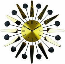 Load image into Gallery viewer, Gold Metal Mirrored effect wall clock