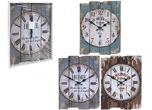 Rectangular wall clocks mdf