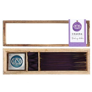 Third Eye Chakra Wooden Incense Set