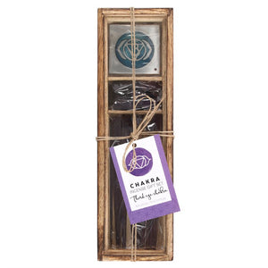Third eye chakra wooden incense gift set