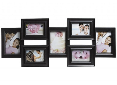 Black gallery 7 in 1 photo frame