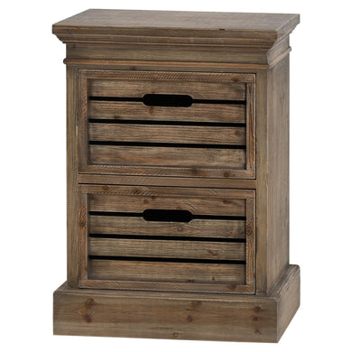 Brooklyn distressed pine 2 drawer chest