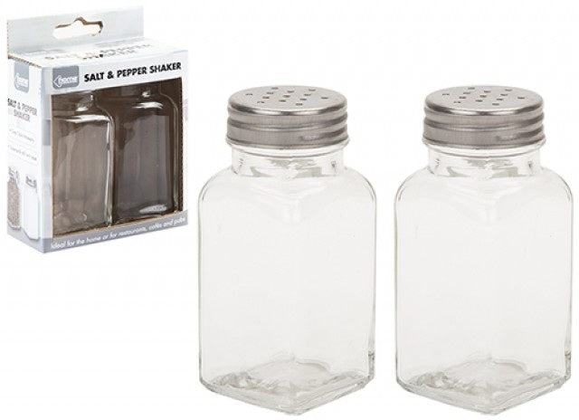 Salt jar and pepper shakers