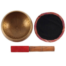 Load image into Gallery viewer, 12CM BEATEN BRASS SINGING BOWL