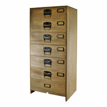 Load image into Gallery viewer, Tall Wooden Chest of 7 Drawers