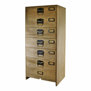 Tall Wooden Chest of 7 Drawers