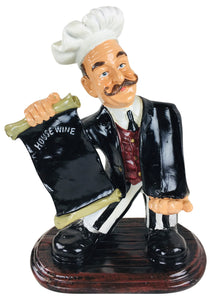 resin chef wine holder